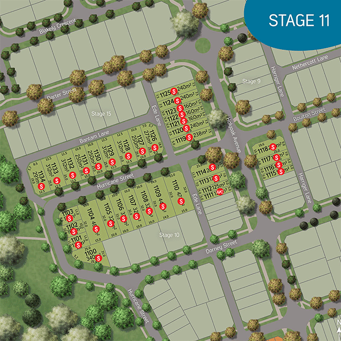Stage plan, stage 11 The Village