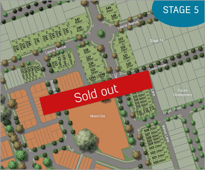 Stage plan, stage 5 The Village SOLD OUT